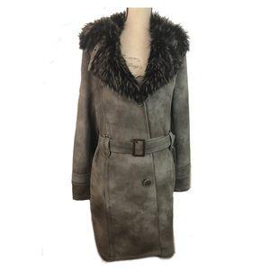 Tasha Polizzi Coat Faux Suede And Fur